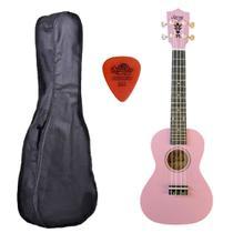 Ukulele Rosa Seven Concert  Suk-23 PI C/ Capa - Seven Guitars