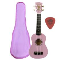 Ukulele Rosa Seven Soprano Suk-07 PI C/ Capa - Seven Guitars