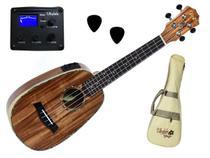 Ukulele Seizi Bora Bora Koa Pineapple Concert Elétrico Com Bag -