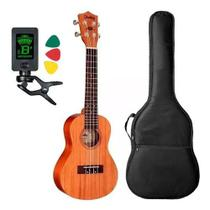 Ukulele Shelby Su23m Concerto Natural By Eagle Afinador Capa -