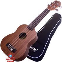 Ukulelê Soprano Profissional Kalani KAL220SS 15414 8135 Natural Capa Luxo e cordas Áquila -