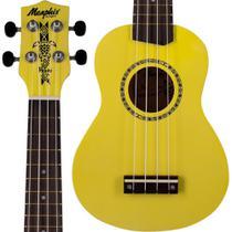 Ukulele Soprano Tagima Honu Memphis Amarelo NYL Neon Yellow -