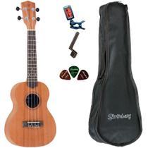 Ukulele Strinberg UK06C MGS Concert Bag Encordoador Afinador -