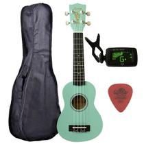 Ukulele Turquesa Seven Soprano Suk-07 MG C/ Capa e Afinador - Seven Guitars