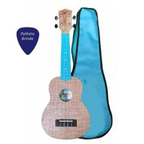 Ukulele Winner Azul Soprano ABS Colors Series + Capa -