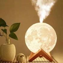 Umidificador Aromatizador Luminária abajur Lua Cheia 3d - Vintage
