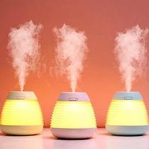 Umidificador Climatizador Aromatizador De Ar Luz Led 250ML - Exclusivo