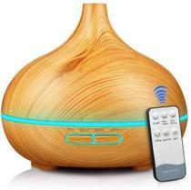 Umidificador Difusor De Aroma Ultrassônico Madeira controle - Aromaterapia