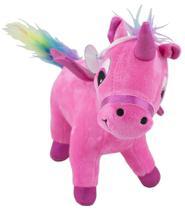 Unicornio de Pelucia Rosa para bebê 2 meses - Bbr toys