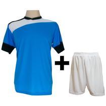 661a42c7f1 Uniforme Esportivo com 14 camisas modelo Sporting Celeste Branco Preto + 14  calções modelo Madrid + 1 Goleiro + Brindes