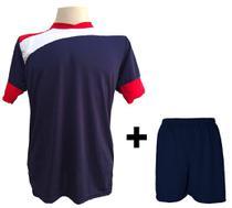 c14d50d580 Uniforme Esportivo com 14 camisas modelo Sporting Marinho Vermelho Branco + 14  calções modelo Madrid + 1 Goleiro + Brindes