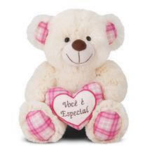 Ursa Pietra de Pelúcia - Coração Você é Especial 24 cm - Ctx