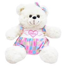 Urso de Pelúcia Branco 28 cm Fofy Toys -