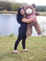 Urso de Pelúcia Gigante - 1.20m - Marrom - Asafe Presentes