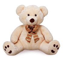 Urso de Pelúcia Gigante - Charles Chic - Bege - 80 cm - Buba -