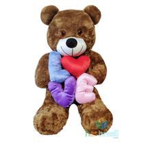 Urso de Pelucia Gigante Marrom com Almofada Love Presente Namorados - Has Brasil