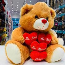Urso de Pelúcia Grande Me Ame Me Beije Me Abrace 7107 Fizzy -