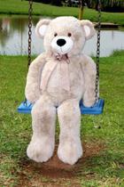 Urso de Pelúcia Rafael 1 m Gigante - Areia Lançamento - Casa Chic