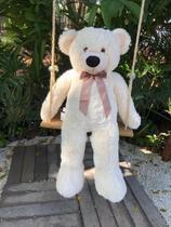 Urso de Pelúcia Rafael 1 m Gigante - Marfim Lançamento - Casa Chic