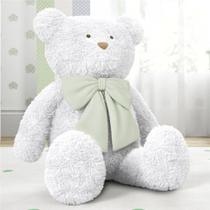 Urso Gigante Branco com Laço Verde 1m Grão de Gente -