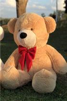 Urso Gigante Pelúcia Teddy - 1 metro e 10 cm - Caramelo - Peluche Toys