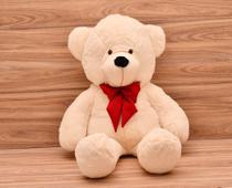 Urso Gigante Teddy Bicho De Pelúcia 110 Cm Laco Vermelho - Davi Baby Enxovais