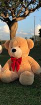 Urso Gigante Teddy Pelúcia Doce de Leite 110cm - Magnababy