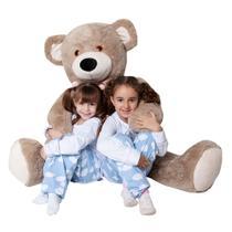 Urso Pelúcia Gigante Presente Crianças Antialérgico 1,20cm - W.U Bichos E Pelúcias