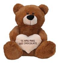 Urso Pelúcia Gigante Presente Crianças Antialérgico 80cm,Cor Mel - W.U Bichos E Pelúcias