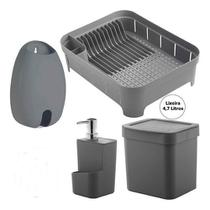 Utensílios Puxa Saco Porta Detergente Escorredor Louças Lixeira 4,7 L Ou Trium -