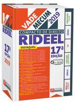 VADE MECUM COMPACTO DE DIREITO - 17ª EDIÇÃO -  1º SEMESTRE 2019 - Editora rideel