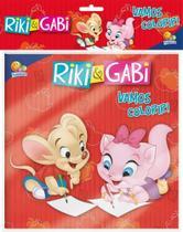 Vamos colorir! riki & gabi - kit com lápis de cor - Brasileitura