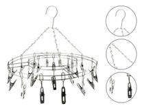 Varal Aço Inox Suspenso Roupa Intima 24 Prendedores - CLINK