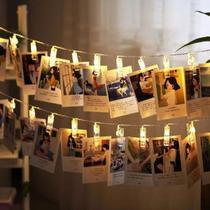 Varal Cordão de Luz Led para Fotos 10 Prendedores - Tendmix