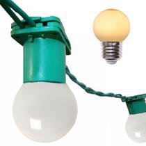 Varal Cordão De Luzes Gambiarra de lampadas Rede Fio de luz 5 Metros Com Lampadas Leitosa 15w - Jdk Iluminação