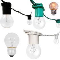 Varal Cordão De Luzes Gambiarra de lampadas Rede Fio de luz 50cm 5 Metros Com Lampadas Transp 15w - Jdk Iluminação