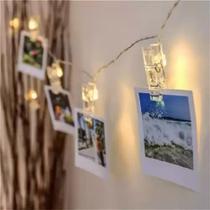 Varal de 1,5m Com 10 Prendedor de LED Para Fotos - Mundo de LED