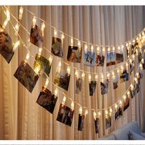Varal De Led 10 Prendedores Pregador Luminoso Foto Decoração - Imp