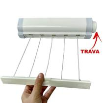 Varal De Parede Automático De 5 Cordas Retrátil Secalux -