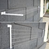 Varal de Roupa Parede Retratil Alumínio Articulado Até 4 MT - Home Varais