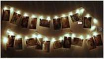 Varal Luminoso Led Cordão 2 M Pregador 10 Prendedores - Zeppe -
