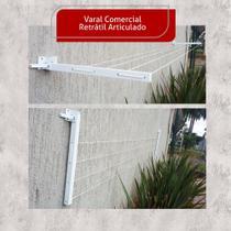 Varal Roupa Aluminio Retratil Reforçado Extensível Até 4 Mt - Home Varais