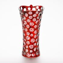 Vaso 35cm De Vidro Red Points Prestige - R3678 -