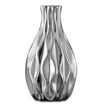 Vaso Cerâmica 6,5Cm Decorativo  Prata 5628 Mart -