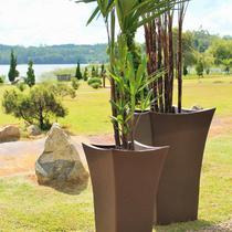 Vaso de Polietileno 72cmx48cm Wave Japi Café -