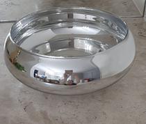 Vaso de vidro prata espelhado centro de mesa cachepot Luxo - Linda