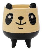 Vaso Decorativo De Cerâmica Panda 11x8,5x8,5cm - Taimes