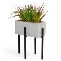 Vaso Decorativo para Planta Cachepot Cimento Garden Floreira Retangular - La Home Presentes