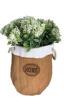 Vaso floreira em cimento com arranjo - Aílton design