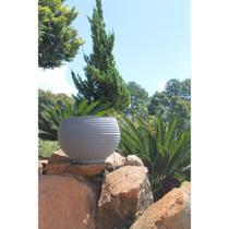 Vaso para Plantas Redondo em Polietileno 42 Esfera Lattice 33cmx31cm Japi Cimento -